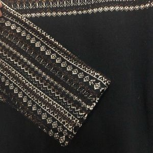 Chaps Tops - Chaps top with metallic embroidered shoulder